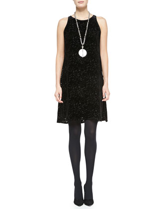 Velvet Vine Sleeveless A-line Dress, Petite