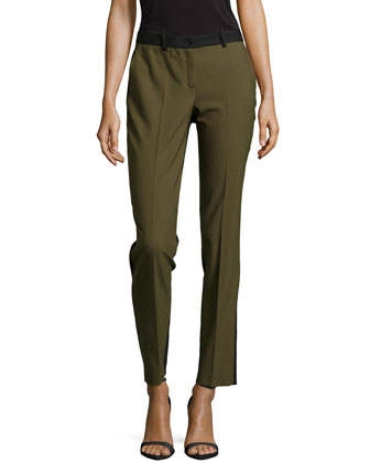 Samantha Two-Tone Slim Pants