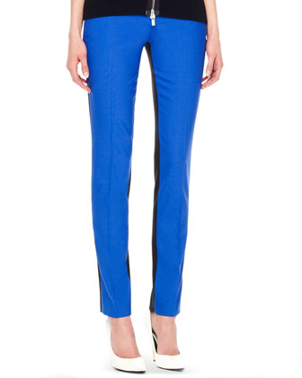Samantha Two-Tone Slim Pants, Royal
