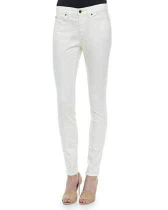 Shaggy Long Cardigan, Long Asymmetric Tank & Organic Stretch Skinny Jeans
