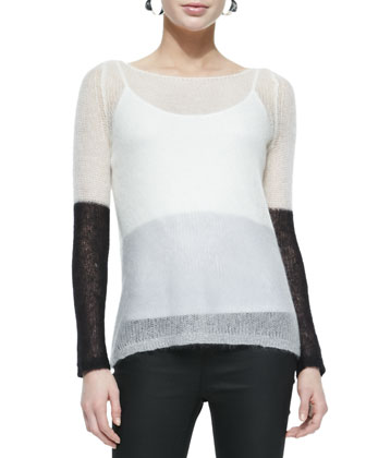 Plaited Mohair Box Top, Scoop-Neck Jersey Cami & Fisher Project Coated ...