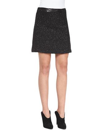 A-Line Tweed Miniskirt