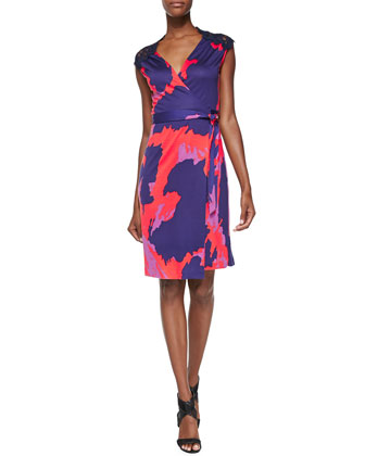 Olivier Printed Wrap Dress