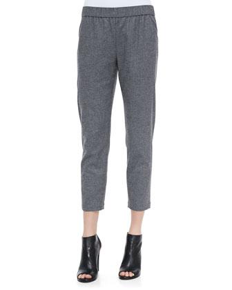 Korene Flannel Cropped Pants