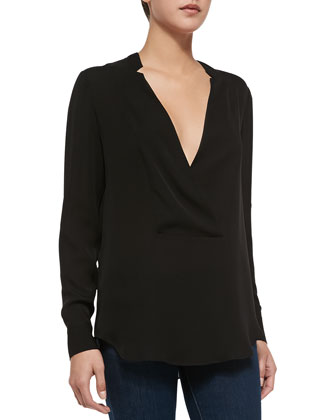 Corbette Double-Georgette Top