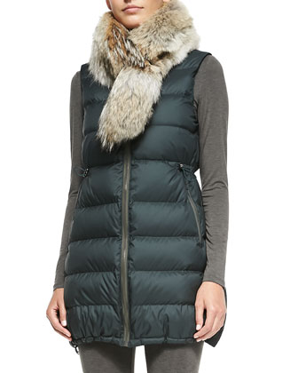Womira Fur-Collar Puffer Coat