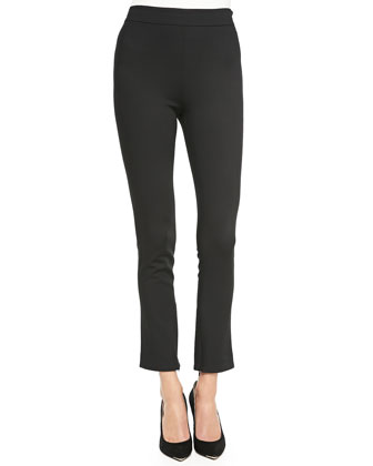 High-Waist Cropped Suit Pants