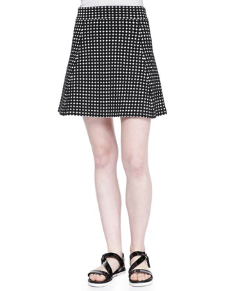 Doreene D Dot-Print A-Line Skirt