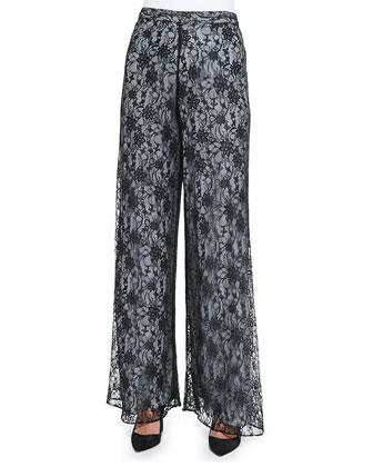 Super Flare Lace Wide-Leg Pants