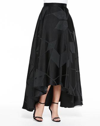 Floor-Length Skirt W/ Box Pleats