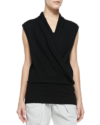 Sonar Wool Surplice Top