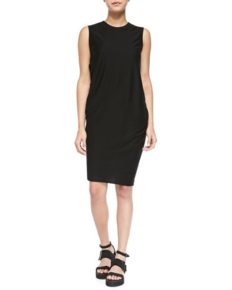 Sync Sleeveless Draped Jersey Dress, Black