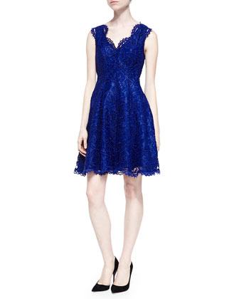 Cindy Sleeveless Lace A-Line Dress