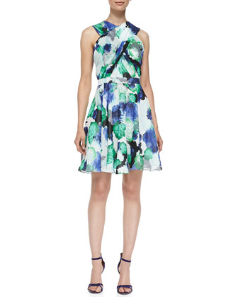 Randi Floral Crisscross-Front Dress