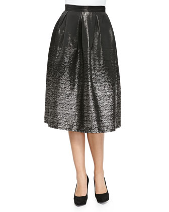 Jackie Metallic Pleated Midi Skirt