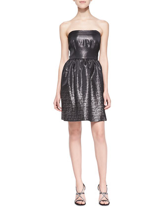 Chelsea Strapless Jacquard Dress