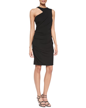 Chantaile Cut-In-Shoulder Jersey Dress