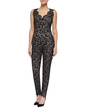 Sierra Sleeveless Lace Jumpsuit