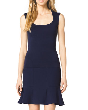 Cashmere Scoop-Neck Top, Indigo