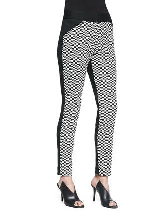 Eme Printed Ponte Pants