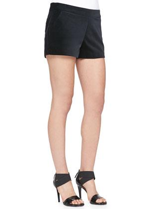 Calimesa Shimmery Tweed Fringe Jacket, Elvire Contrast-Hem Silk Tank & ...