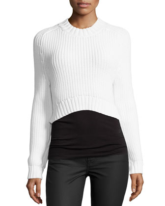 Airspun Shaker Cropped Sweater