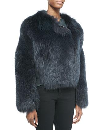 Fox Fur/Lambskin Cropped Jacket