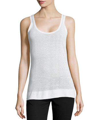 Relaxed Slub Tank, White