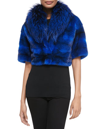 Mink/Fox Fur Cropped Jacket