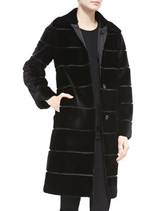 Mink Fur/Rainwear Reversible Coat