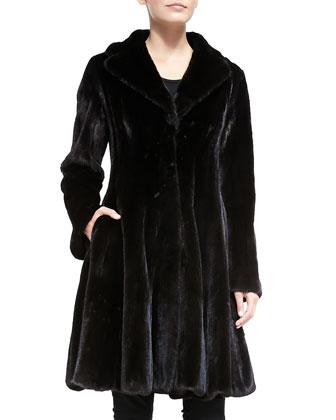 Mink Fur Flounce Coat