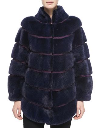 Mink Fur/Grosgrain Jacket