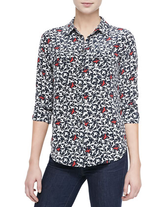 Slim Signature Printed Blouse