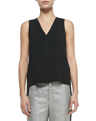 Fernanda Sleeveless Cutout-Back Top