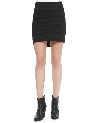 Michelle Cold-Shoulder Space Dye Top & Sloane Ribbed Mini Skirt