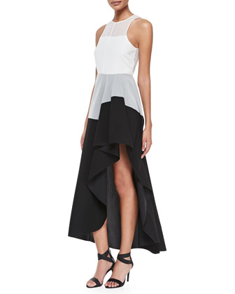 Dolie Colorblock High-Low Maxi Dress