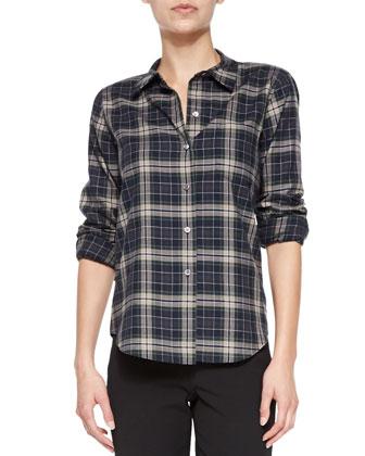 Perfect Plaid Improvise Button-Down Shirt