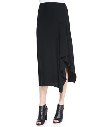 Sozal Side-Ruffle Skirt