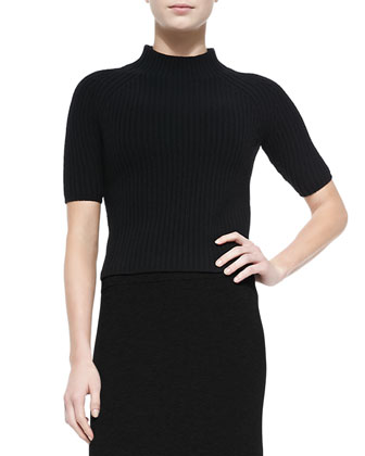 Jodi Mock-Neck Knit Top
