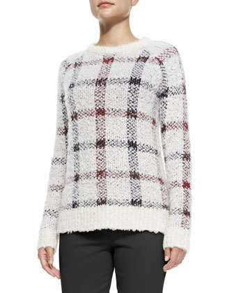 Innis Knit Plaid Pullover Sweater