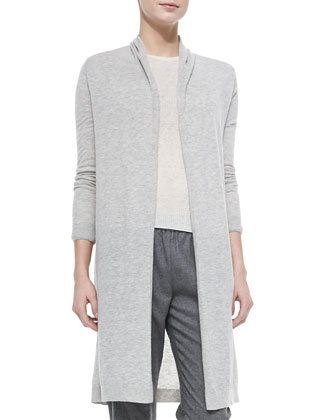 Ashtry Lightweight Slub Open Cardigan, Phoeby Lightweight Ribbed Knit Top & ...
