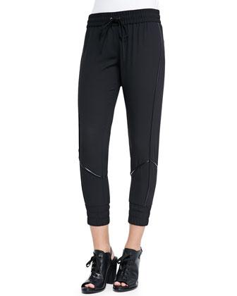 Crepe Track Pants