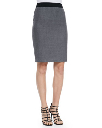 Bennet Stretch Flannel Pencil Skirt