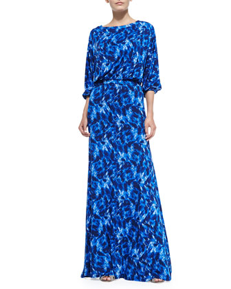 Aurora Printed Maxi Dress, Women's