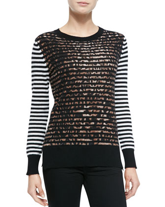 Jaguar Striped Cashmere Top