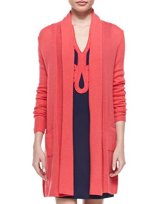 Estelle Long Cardigan with Pockets & Janice Ottoman Dress with Soutache ...