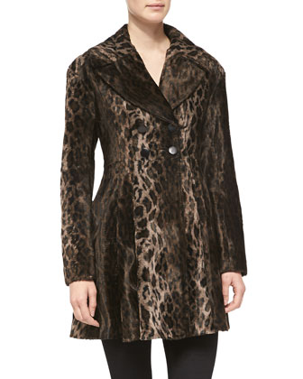 High Voltage Leopard-Print Coat