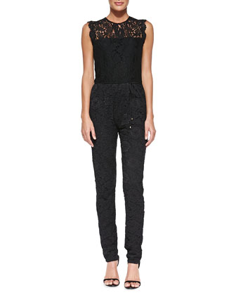 Manuela Sleeveless Lace Jumpsuit