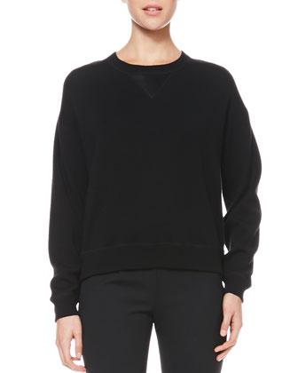 Satin-Back Wool Sweatshirt