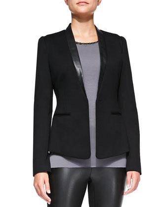 Tuxedo Junction Leather-Trim Jacket